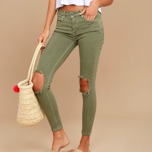 High Waisted Free People Skinny Jeans